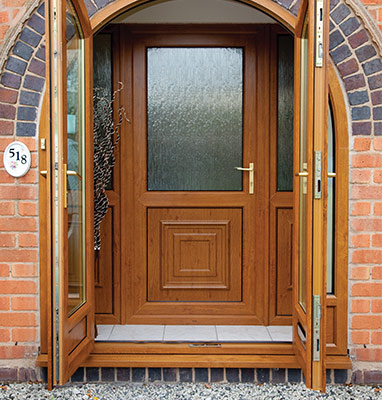 upvc-front-door-brown
